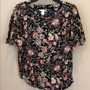 H&M size 14 multi color blouse. Bought in Europe.
